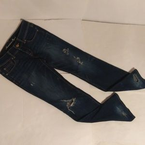 American Eagle slim boot distressed jeans sz 6